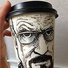 Paper Coffee Cups Turned Into Works of Art by Artist Miguel Cardona