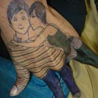 We have seen creative drawings on fingers but this unknown artist went ahead and drawn a cute loving couple on the back on left hand. The use of fingers...