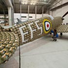 Llife-Size Spitfire Made From 6,500 Egg Boxes