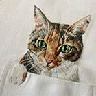 Cute Cats Embroidered on Shirts