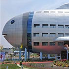 The newly opened National Fisheries Development Board building in Hyderabad, India, designed to resemble a fish. I like this concept and just hope this building will not be nominated...