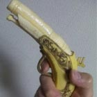 Banana Carved In The Shape Of .45 Caliber Flintlock Gun