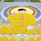 More than 7,000 Falungong followers form an image of Li Hongzhi, the founder of the spiritual movement outlawed by China, during a gathering in Taipei. Photograph by FALUNGONG/AFP/Getty Images