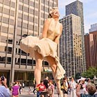 A Giant Marilyn Monroe Statue In Chicago