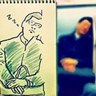 Japanese Illustrator Turns Everyday Scenes into Sketches