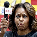 Funny Face Expression of Michelle Obama