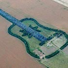 An Argentine farmer named Pedro Martin Ureta, 70 embedded the giant guitar design into his farm as a tribute to his late wife who died in 1977 at the...