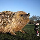 Giant Hedgehog Sculpture Installed in a Park in London