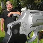 Gun Fanatic Creates .44 Magnum Revolver-Shaped Mailbox