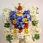 Whatthecool Gundam made of Flowers spotted at the Asian Students & Young Artists Art Festival. The Gundam Flower sculpture was made by artist Songsong Jakganim.