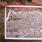Hand Cut Maps by Karen O'Leary