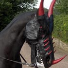 Scary Mask To Turn Your Horse Into Dragon
