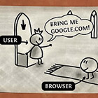 Did someone ever asked you how the browser or the internet works? Next time, your answer will be this comical illustration, created by Vladstudio.