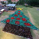 World's Biggest Human Christmas Tree