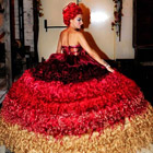 Thelma Madine, a renowned dress designer has created an unbelievable dress made out of human hair! The size 6 dress, which took over 300 hours to make, uses 820...