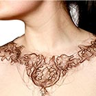 Creative art student, Kerry Howley, from Cambridge, England creates unique necklaces made from human hair. Hairs are treated as important part of the human body and worn with pride,...