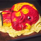 Anatomical Wax Model cake based on the La Specola (Florence) museum collection of anatomical wax models from the late 18th century. This bizarre yet delicious human head cake was...