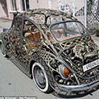 Wrought-Iron Volkswagen Beetle