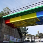 An ordinary train overpass has been transformed into a giant Lego bridge structure by German street artist Megx. The making of this giant Lego bridge took nearly 4 weeks...