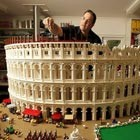 Australia's only Lego certified professional build the world's first Lego Colosseum, for Nicholson Museum, using more than 200,000 Lego bricks. The Lego Colosseum model presented in cross-section, half in...