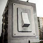 Mysterious street artist Escif has painted a building-sized light switch on the side of an apartment block in Katowice, Poland. He used a clever trompe l&#8217;oeil painting technique to...