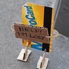 Humorous Cardboard Signs Express the Thoughts of Lost Objects