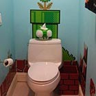 Super Mario-Themed Toilet