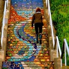 Gorgeous Mosaic Staircase in San Francisco