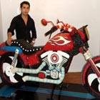 Life-size Motorcycle Built Out of 20,000 Candies