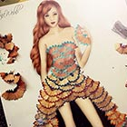 Dresses Made Out of Pencil Shavings & Rose Petals
