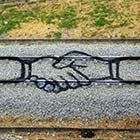 Train Tracks Graffiti Art by Portuguese Artist Artur Bordalo