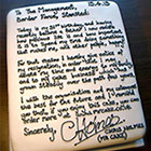Man Writes Resignation Letter On Cake