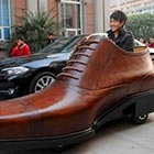 Chinese footwear company AoKang created a giant shoe-shaped electric car as a promo for their shoes. This shoe-shaped car is capable of speeds up to 30 km/h and can...