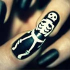 Skeleton Nails: Bizarre Skeleton Polish on Nails