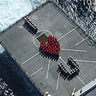 US Navy Sailors Forming Heart Shape To Send Love Message To Their Loved Ones
