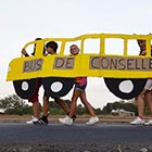 Biel Alino / European Pressphoto Agency School-going children are protesting against the Spanish government's cuts to school transport in Pobla de Vallbona, Spain. Some school bus routes have been...