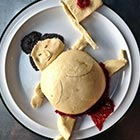 Sumo Wrestler Made Out of Food