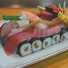 Japanese Battle Tank Shaped Sushi Served in Restaurant