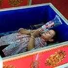 Buddhist temple, Wat Proman, in Bangkok – Thailand is offering a deeply bizarre ritual of lying in the coffins for a few minutes while the monks chant some prayers...
