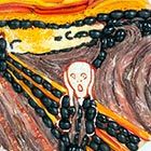 """The Scream"" Painting Recreated Using Pizza Ingredients"