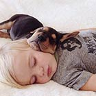 Cute Photos of a Toddler Napping with His Puppy