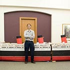 25ft Long Ship Model Made with One Million Toothpicks