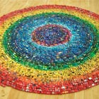 "2,500 toy cars used to create installation piece titled ""Car Atlas Rainbow"" by UK artist David T. Waller. It was displayed at Artsdepot's Apthorp Gallery and ""received the highest..."