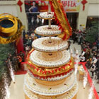 The new record for world&#8217;s tallest cake has been awarded to China when a shopping mall in Luoyand, central China created a huge 8m high cake. The eight-layer cake...