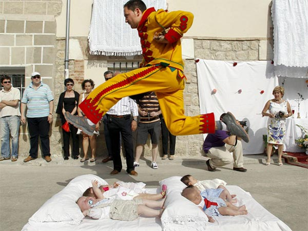 Babies Jumping Festival in Spain