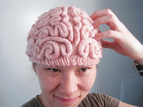 Knitted Brain Hat