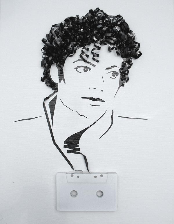 Cassette Tape Art By Erika Iris Simmons