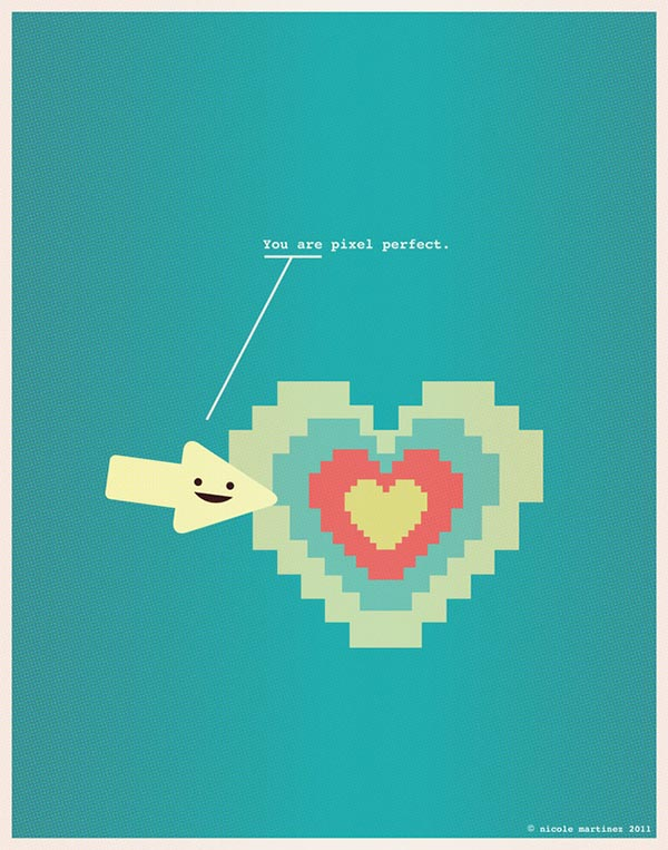 Nerdy Dirty - Love Illustration in Nerds Style