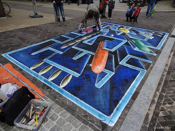 Pac-Man Street Art Painting