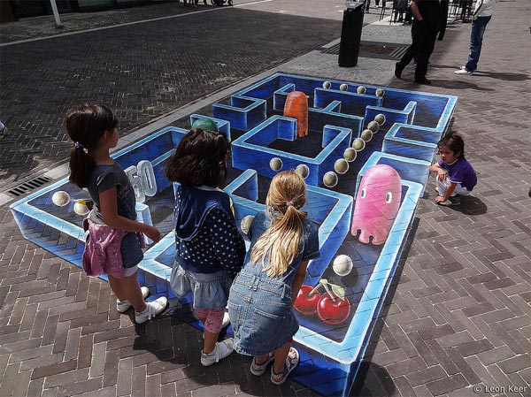 3d street art Pac-Man in Venlo